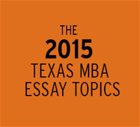 Essay topics for mba entrance